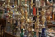 Hookahs for sale at the Khan-alKhalili Bazaar in Cairo, Egypt