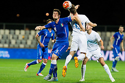Cerii of Italy and Aleks Pihler of Slovenia during football match between U21 National Teams of Slovenia and Italy in 4th Round of UEFA 2017 European Under-21 Championship Qualification on October 8, 2015 in stadium Bonifika, Koper / Capodistria, Slovenia. Photo by Urban Urbanc / Sportida