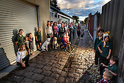 Disgruntled Brunswick residents unhappy at council plans to dig up their bluestone laneway &amp; replace it with concrete. Pic By Craig Sillitoe CSZ/The Sunday Age.27/04/2012  Pic By Craig Sillitoe CSZ / The Sunday Age melbourne photographers, commercial photographers, industrial photographers, corporate photographer, architectural photographers, This photograph can be used for non commercial uses with attribution. Credit: Craig Sillitoe Photography / http://www.csillitoe.com<br />