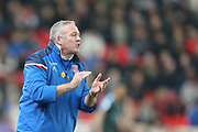 Paul Lambert during the Premier League match between Stoke City and Manchester City at the Bet365 Stadium, Stoke-on-Trent, England on 12 March 2018. Picture by Graham Holt.