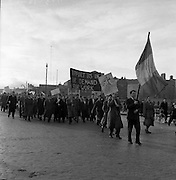 Unemployed Protest March in Dublin.03/04/1957