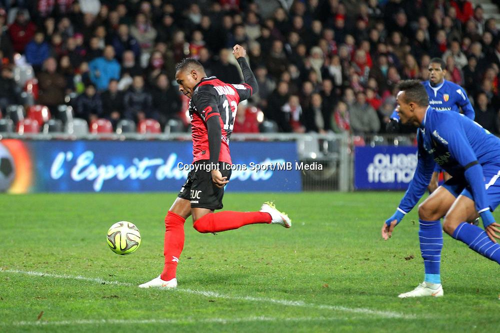 But Christophe MANDANNE - 10.01.2015 - Guingamp / Lens - 20eme journee de Ligue 1<br />Photo : Vincent Michel / Icon Sport
