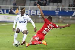 March 9, 2018 - Auxerre, France - (Auxerre)  Moussa Diallo                         (Brest)  Habibou Diallo (Credit Image: © Panoramic via ZUMA Press)