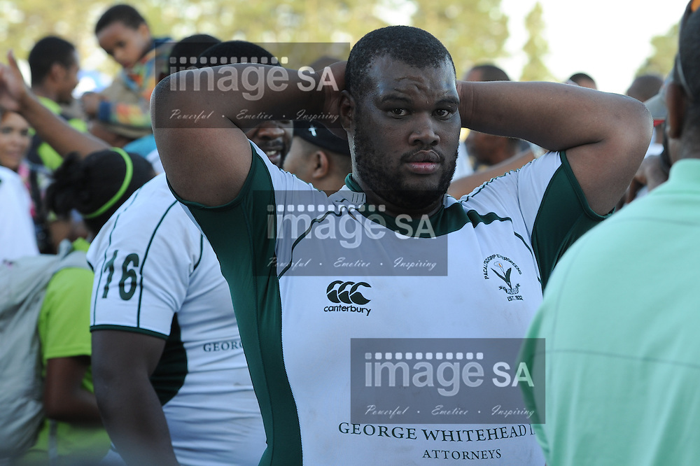 GEORGE, SOUTH AFRICA - SATURDAY MARCH 2 2013, Henrico Lewis of Pacaltsdorp Evergreens during match 23 of the Cell C Community Cup rugby match between Evergreens and Brakpan held at the Pacaltsdorp Sports Ground..Photo by Roger Sedres/ImageSA