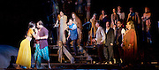The Pearl Fishers <br /> music by Georges Bizet <br /> production by Penny Woolcock <br /> English National Opera, London Coliseum, London, Great Britain <br /> rehearsal <br /> 17th October 2016 <br /> <br /> Jacques Imbrailo as Zurga <br /> <br /> Robert McPherson as Nadir <br /> <br /> Claudia Boyle as Leila <br /> <br /> James Creswell as Nourabad High Priest of Brahma <br /> <br /> <br /> Photograph by Elliott Franks <br /> Image licensed to Elliott Franks Photography Services