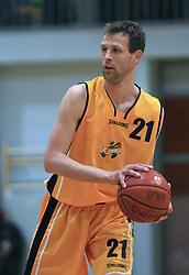 Slavko Duscak at 12th Round of UPC League basketball match between KK Luka Koper and KK Zlatorog Lasko, on May 2, 2009, in Arena Bonifika, Koper, Slovenia. Zlatorog won the match 72:71. (Photo by Vid Ponikvar / Sportida)