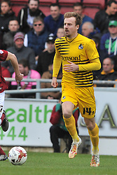 BRISTOL ROVERS TOM LOCKYER HOLDS OF NORTHAMPTONS JOHN MARQUIS, CHRIS LINES BRISTOL ROVERS Northampton Town v Bristol Rovers, Sky Bet League Two, Sixfields Stadium, Saturday 9th April 2016, (Score 2-2) Northampton Promoted to League One,