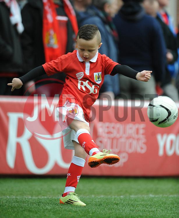 Mascot - Photo mandatory by-line: Dougie Allward/JMP - Mobile: 07966 386802 - 28/02/2015 - SPORT - football - Bristol - Ashton Gate - Bristol City v Rochdale AFC - Sky Bet League One