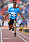 Nelson Evora (POR) places fifth in the tripole jump at 54-4¾ (16.58m) during the IAAF Continental Cup 2018 at Mestky Stadion in Ostrava, Czech Republic, Sunday, Sept. 9, 2018. (Jiro Mochizuki/Image of Sport)