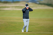 Tyrrell Hatton walks up the 16th fairway during the final round of the Alfred Dunhill Links Championships 2018 at West Sands, St Andrews, Scotland on 7 October 2018