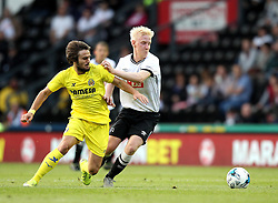 Derby County's Will Hughes battles for possession - Mandatory by-line: Robbie Stephenson/JMP - 07966386802 - 29/07/2015 - SPORT - FOOTBALL - Derby,England - iPro Stadium - Derby County v Villarreal CF - Pre-Season Friendly