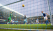 A header by Hope Akpan of Blackburn Rovers finds its way into the back of the Sheffield Wednesday  net to make it 1-0 during the Sky Bet Championship match at Ewood Park, Blackburn<br /> Picture by Russell Hart/Focus Images Ltd 07791 688 420<br /> 28/11/2015