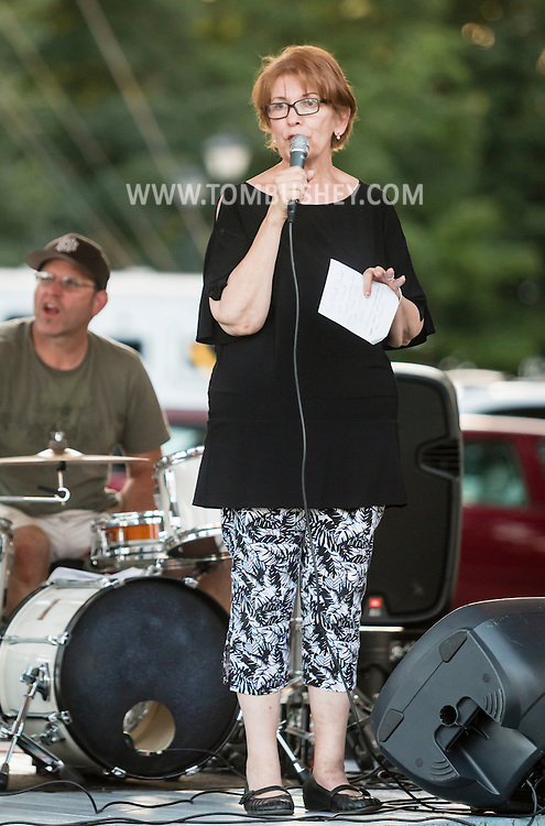 Pine Bush, New York - The Eric Winter Group perfrorms during the Town of Crawford Free Summer Concert Series at the Pine Bush Gazebo on Aug.19, 2016.
