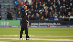 Sussex's Tymal Mills reacts to a chance.  - Mandatory by-line: Alex Davidson/JMP - 01/06/2016 - CRICKET - The 1st Central County Ground - Hove, United Kingdom - Sussex v Somerset - NatWest T20 Blast
