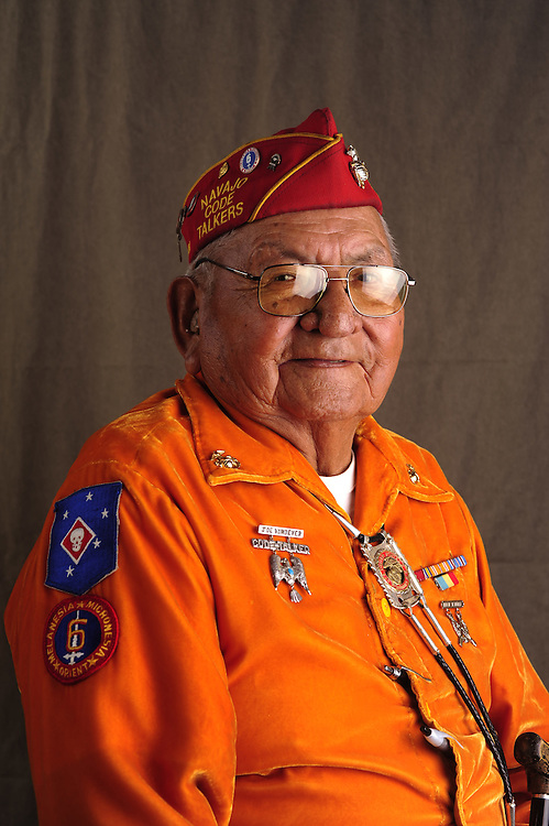 Navajo Code Talker Joe Vandever