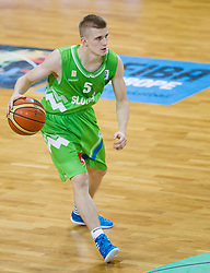 Luka Rupnik of Slovenia during basketball match between National teams of Latvia and Slovenia in Qualifying Round of U20 Men European Championship Slovenia 2012, on July 16, 2012 in Domzale, Slovenia. Slovenia defeated Latvia 69-62. (Photo by Vid Ponikvar / Sportida.com)