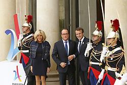 September 15, 2017 - Paris, France, France - Brigitte Macron - Francois Hollande - Emmanuel Macron (Credit Image: © Panoramic via ZUMA Press)