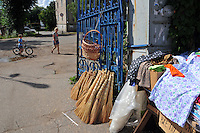 """At a local market a few blocks back from the Volga River in Uglich, Russia. As one of Russia's """"Golden Ring"""" cities, Uglich is designated a town of significant cultural importance."""