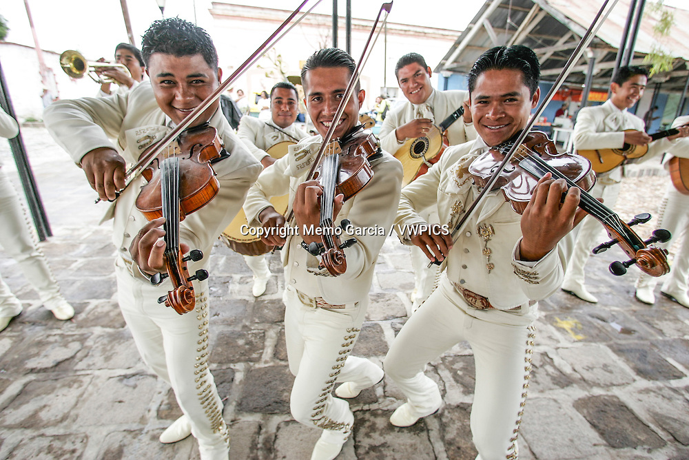 Mariachis the Image of Mexican Music World Wide, with plenty of diferent instruments, reflects in their songs the mexican personality and way of life. Photo by Memo Garcia.