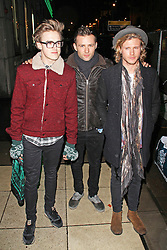 © Licensed to London News Pictures. 19/12/2013, UK. Tom Fletcher, Harry Judd & Dougie Poynter, Wicked - Press Night, Apollo Victoria Theatre, London UK, 19 December 2013. Photo credit : Brett D. Cove/Piqtured/LNP