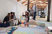 RACHEL LORD IN SAILRS CAP PALAZZO PECKHAM, , Venice. Venice Bienalle. 28 May 2013