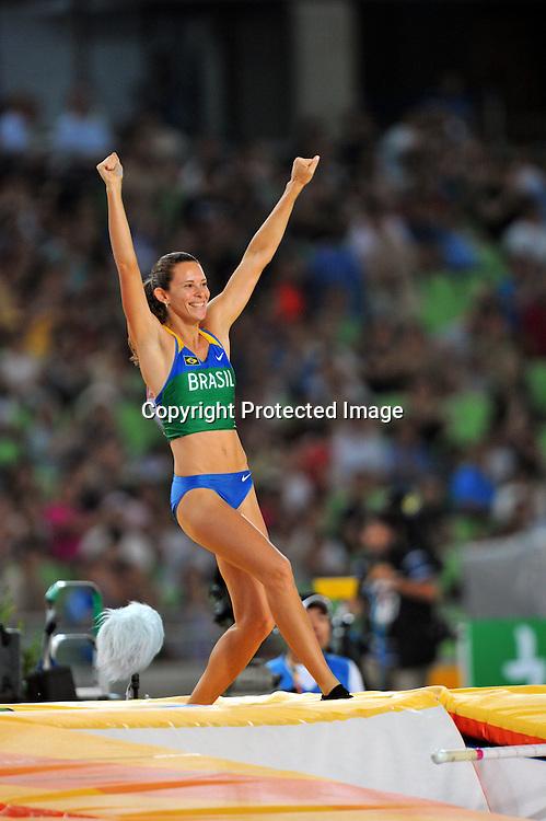 Fabiana Murer (BRA),AUGUST 30, 2011 - Athletics :The 13th IAAF World Championships in Athletics - Daegu 2011, Women's Pole Vault Final at the Daegu Stadium, Daegu, South Korea. (Photo by Jun Tsukida/AFLO SPORT) [0003]