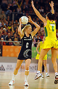 Laura Langman (NZ)<br /> Netball - Australia vs New Zealand<br /> 2007 International Test Series<br /> Vodafone Arena, Melbourne Australia<br /> Saturday 21 July 2007<br /> © Sport the library / Jeff Crow