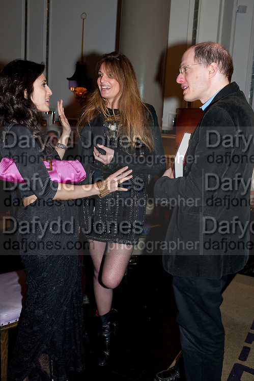 FATIMA BHUTTO; JEMIMA KHAN; ALAIN DE BOTTON, Henry Porter hosts a launch for Songs of Blood and Sword by Fatima Bhutto. The Artesian at the Langham London. Portland Place. 15 April 2010.