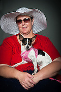 Sheryl Reeder with her two-year-old chihuahua Mia.