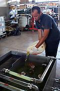 Foto di Donato Fasano Photoagency, nella foto : 13 07 2009 Bari Fluidotecnica zona industriale inventori della macchina che scinde l'olio dall'acqua nella foto mesoliamo l'acqua con il gasolio per poio dividerla con la macchina