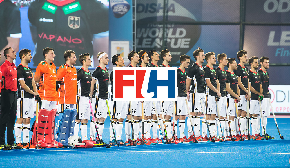 BHUBANESWAR - The Odisha Men's Hockey World League Final . Match ID 05 . Germany  v Australia . line up Germany.   WORLDSPORTPICS COPYRIGHT  KOEN SUYK