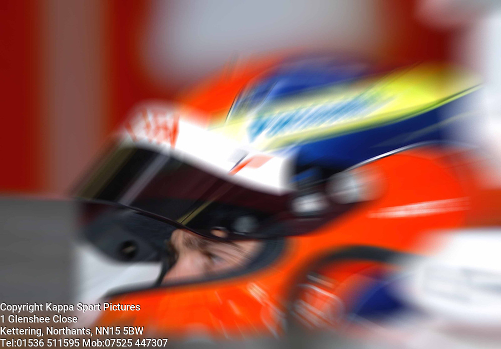 ADRIAN VALLES Spyker  F1 Formula One Test Silverstone 19th September 2006 :Photo Mike Capps
