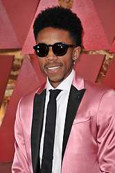 Darrell Britt-Gibson walking on the red carpet during the 90th Academy Awards ceremony, presented by the Academy of Motion Picture Arts and Sciences, held at the Dolby Theatre in Hollywood, California on March 4, 2018. (Photo by Sthanlee Mirador/Sipa USA)