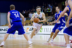 Miha Zupan of Olimpija at third finals basketball match of Slovenian Men UPC League between KK Union Olimpija and KK Helios Domzale, on June 2, 2009, in Arena Tivoli, Ljubljana, Slovenia. Union Olimpija won 69:58 and became Slovenian National Champion for the season 2008/2009. (Photo by Vid Ponikvar / Sportida)