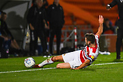 Doncaster Rovers midfielder Ben Whiteman (8) tries to keep the ball in during the EFL Sky Bet League 1 match between Doncaster Rovers and Blackpool at the Keepmoat Stadium, Doncaster, England on 17 September 2019.