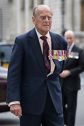 © Licensed to London News Pictures. 30/06/2016. London, UK. The Duke of Edinburgh arrives for The Battle of the Somme Centenary Service and Vigil at Westminster Abbey. An overnight vigil at the Grave of the Unknown Warrior will start tonight and end at 0730 tomorrow morning. Photo credit: Peter Macdiarmid/LNP