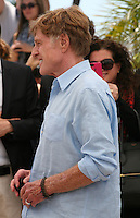 Actor Robert Redford.at the All Is Lost film photocall Cannes Film Festival on Wednesday 22nd May 2013