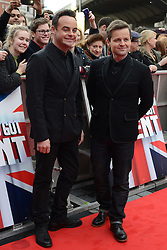 Britain's Got Talent. Anthony McPartlin (L) and Declan Donnelly  (Ant and Dec) arrive to Britain's Got Talent at Hammersmith Apollo. Hammersmith Apollo, London, United Kingdom. Tuesday, 11th February 2014. Picture by Peter Kollanyi / i-Images