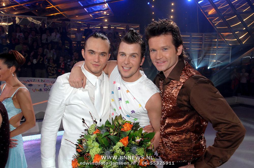 NLD/Baarn/20070314 - 10de Live uitzending RTL Dancing on Ice 2007, Joris Putman, Winston Gerstanowitz en Sander Janson