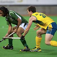 MELBOURNE - Champions Trophy men 2012<br /> Australia  v Pakistan 1-0<br /> foto: duel Shakeel Abassi (L) and Kavanagh Fergus<br /> FFU PRESS AGENCY COPYRIGHT FRANK UIJLENBROEK