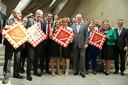 Pictured: Richard Leonard, Patrick Harvie, Willie Rennie, Anas Sarwar, Kim Leadbeater, Nicola Sturgeon and Jackson Carlaw<br /> <br /> Kim Leadbeater was in the Scottish Parliament today tol thank all Scotland's party leaders for putting their disagreements to one side and coming together to support stronger communities in memory of her sister, Jo Cox, who was murdered three years ago.<br /> <br /> <br /> Ger Harley | EEm 2 May 2019