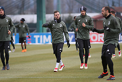March 6, 2018 - Vinovo, Piedmont, Italy - Miralem Pjanic (Juventus FC) with teammates during the training on the eve of the second leg of the Round 16 of the UEFA Champions League 2017/18 between Juventus FC and Tottenham Hotspur FC at Juventus Training Center on 06 March, 2018 in Vinovo (Turin), Italy. (Credit Image: © Massimiliano Ferraro/NurPhoto via ZUMA Press)