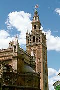 SPAIN, ANDALUSIA, SEVILLE Giralda; 1184, Moorish minerat