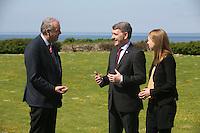 Repro FREE FAO BUSINESS pages Gerald Fleming, Met Eireann Meteorologist, Peter Heffernan, Marine Institute CEO and Eleanor O'Rourke, Marine Institute pictured ahead of the Our Ocean Wealth Conference, which brings together international and national industry leaders, policy makers, researchers and maritime entrepreneurs on 1st July 2016 at NUIG to discuss marine innovation, marine spatial planning, ocean ecosystems and sustainability. Seewww.ouroceanwealth.ie for more information.