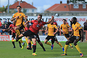 Adam McGurk of Morecambe  during the EFL Sky Bet League 2 match between Morecambe and Newport County at the Globe Arena, Morecambe, England on 16 September 2017. Photo by Mick Haynes.