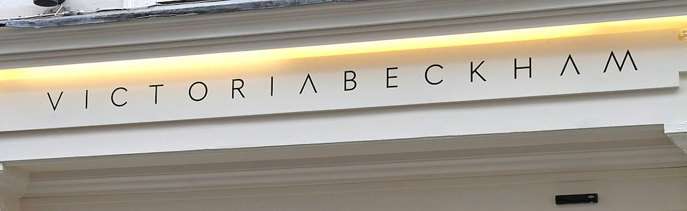 Victoria Beckham new store due to open today in London's Mayfair.<br /> <br /> photo shows: The store's minimalist shop front was unveiled this morning as workers put the finishing touches to the store ahead of its opening later today&nbsp;<br /> &copy;Exclusivepix