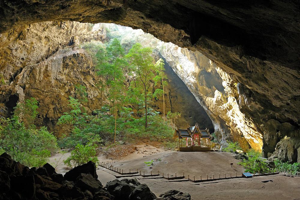 Phra Thi Nang Guhu Garihas, Royal Pavilion at Praya Nakhon, Cave, Khao Sam Roi Yod Marine National Park, near Hua Hin, Thailand