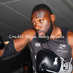 Tendai Beast Mtawarira of the Cell C Sharks during The Cell C Sharks training session at Jonsson Kings Park Stadium in Durban, South Africa. 8th January 2019 (Photo by Steve Haag)