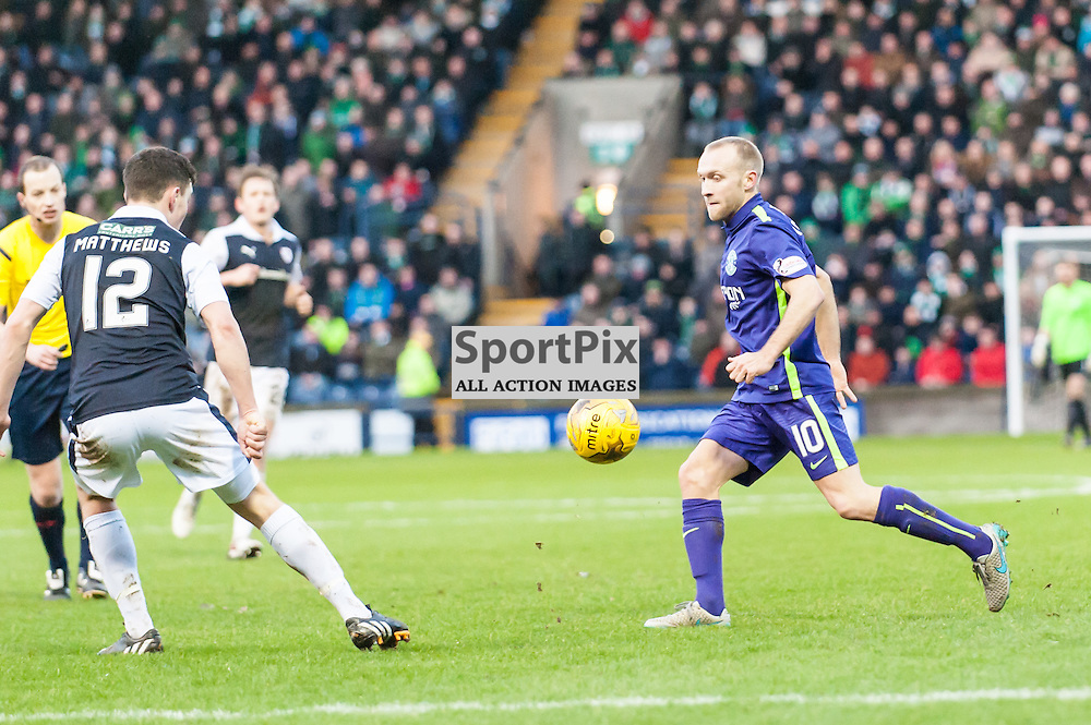 Hibernian's Dylan McGeouch. Action from the Raith Rovers v Hibernian game in the 3rd Round of the Scottisg Cup at  in Kirkcaldy, 9 January 2016. (c) Paul J Roberts / Sportpix.org.uk