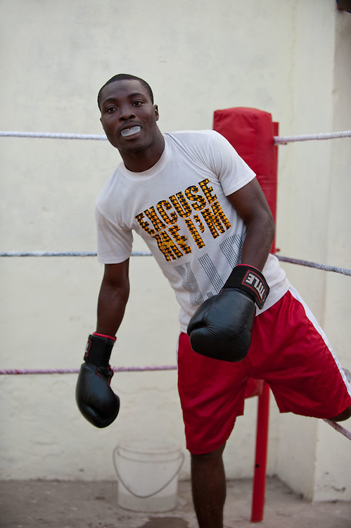 Discipline Boxing Accademy is one of the many independent boxing schools in James Town. The owners and trainer Lawrence Ampofo Kuaye self finances all activities as the boxers are not able to pay a tuition. Most of the boxers use the gym as their own home, sleeping, eating and training all together. The boxers say in James Town you learn to be thaugh since you are born and boxing is in your blood. The trainer and owner puts all his hopes in one of these talented boxers to become a champion so as to recoup his investment and enrich the name of the gym.